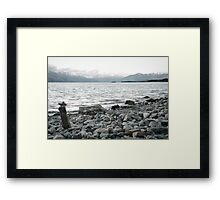 A rock to contemplate - New Zealand Framed Print