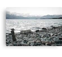 A rock to contemplate - New Zealand Canvas Print