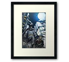 Batman, Robin and Gotham Framed Print