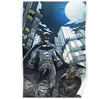 Batman, Robin and Gotham Poster