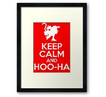 Keep Calm and Hoo-Ha! Framed Print