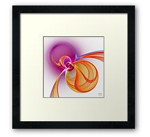 'Light Flame Abstract 231' Framed Print