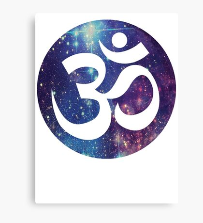 Starry Om  Canvas Print