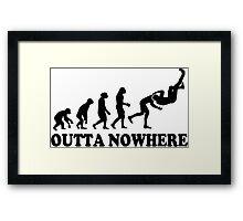 Evolution Outta Nowhere Framed Print