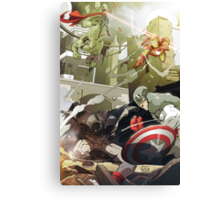 Batman and Superman vs The Avengers Canvas Print