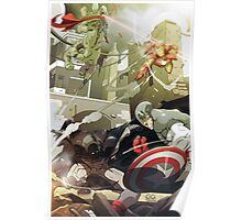 Batman and Superman vs The Avengers Poster