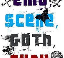 EMO SCENE GOTH PUNK by RedMatterPunk