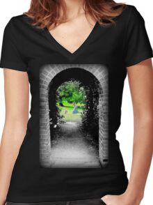 Through to Wonderland Women's Fitted V-Neck T-Shirt