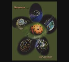 Oneness with Ladybugs Picture in the Centre T-Shirt