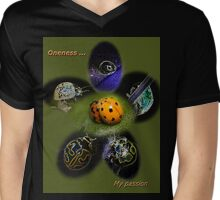 Oneness with Ladybugs Picture in the Centre Mens V-Neck T-Shirt