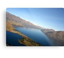 Queenstown from the air - New Zealand Metal Print