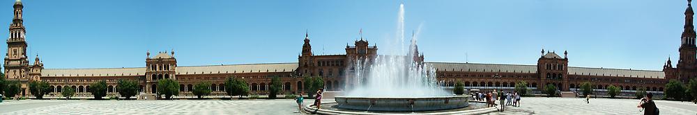 Plaza de Espana Panorama by Michael Gold