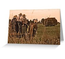 Thrashing Day Greeting Card
