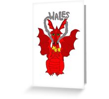Welsh Dragon with daffodils Greeting Card