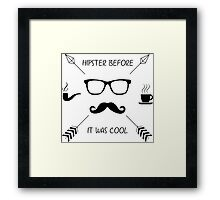 Hipster Before it Was Cool Framed Print