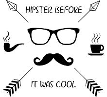 Hipster Before it Was Cool Photographic Print