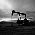 The Pumpjack B&W by Mindy McGregor