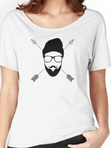 Hipster Emblem Women's Relaxed Fit T-Shirt