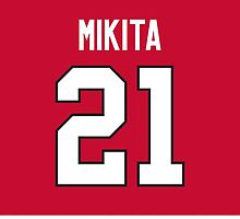 Chicago Blackhawks Stan Mikita Jersey Back Phone Case by Russ Jericho