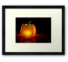 Glowing Yellow Pepper Framed Print