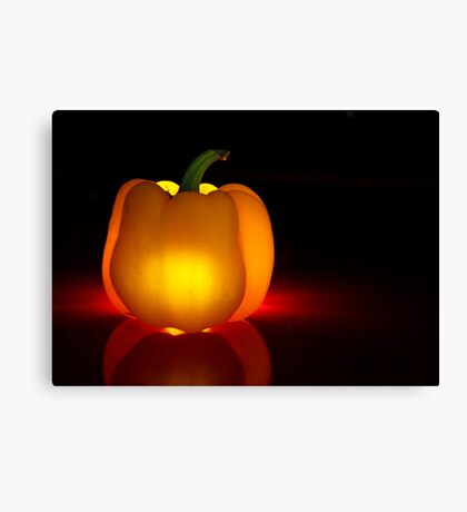 Glowing Yellow Pepper Canvas Print