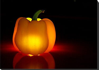Glowing Yellow Pepper by Lori Deiter