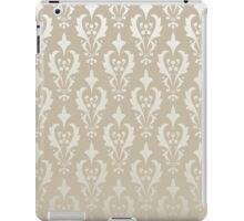 Damask vintage pattern. Gold background iPad Case/Skin