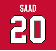 Chicago Blackhawks Brandon Saad Jersey Back Phone Case by Russ Jericho