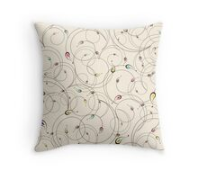 Abstract curly pattern Throw Pillow