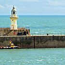 Lighthouse at the harbour of Dover by Arie Koene