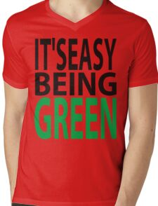 it's easy being green Mens V-Neck T-Shirt