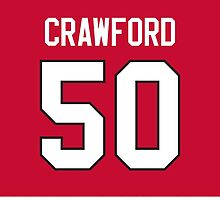 Chicago Blackhawks Corey Crawford Jersey Back Phone Case by Russ Jericho
