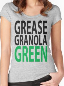 grease granola GREEN! Women's Fitted Scoop T-Shirt
