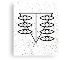 Seele Eyes (Black) Canvas Print