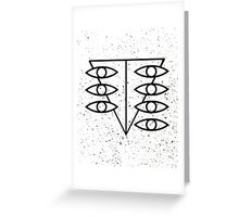Seele Eyes (Black) Greeting Card