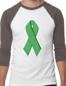 ecoecho ribbon Men's Baseball ¾ T-Shirt