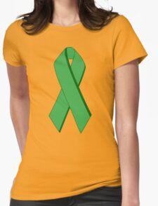 ecoecho ribbon Womens Fitted T-Shirt