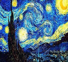 Starry Night - Vincent Van Gough by IntWanderer