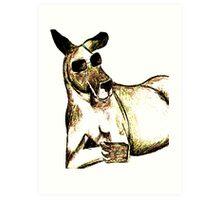 Cool Kangaroo (Colour) Art Print
