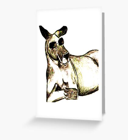 Cool Kangaroo (Colour) Greeting Card