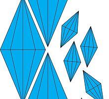 Falling Diamonds by unitycreative