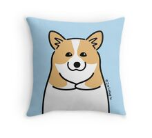 Cute Corgi ... portrait face and paws Throw Pillow