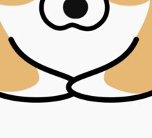 Cute Corgi ... portrait face and paws Sticker