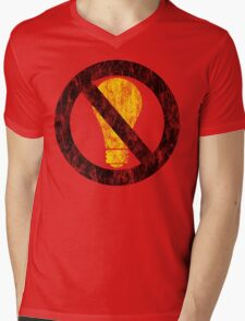 no incandescent bulbs Mens V-Neck T-Shirt