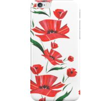 Stylized Poppy flowers illustration iPhone Case/Skin