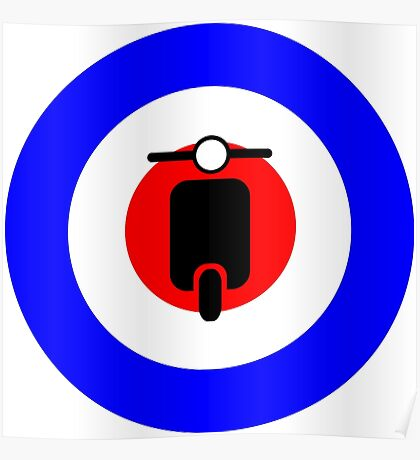 Scooter target - Mods Poster