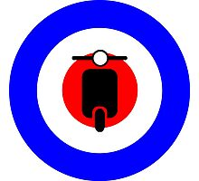 Scooter target - Mods Photographic Print