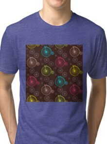 Vintage bicycle seamless pattern Tri-blend T-Shirt