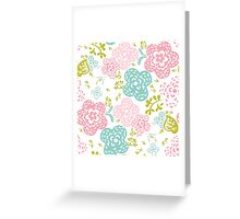 Floral seamless pattern on white background, sweet style Greeting Card