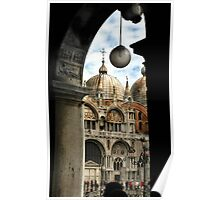 ST. MARKS BASILICA THROUGH COLONNADE Poster